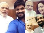 Manchu Family Meets Narendra Modi Prime Minister Pranati Reddy Lakshmi Manchu Manoj
