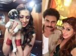 Lakshmi Rai Gives Pawan S Title To A Dog