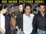 Shahrukh Khan Spotted With Salman Khan Promoting Dilwale New Pictures