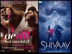 Ae Dil Hai Mushkil Vs Shivaay Three Days Weekend Box Office Collection