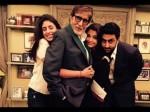 Aishwarya Rai Bachchan Shweta Nanda Give Tight Hug To Amitabh Bachchan Viral Picture Birthday Speci