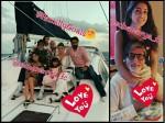 Amitabh Bachchan Birthday Inside Maldives Picture Aishwarya Rai Bachchan Jaya Navya Aaradhya Pose