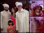 Aaradhya Aishwarya Rai Bachchan Doll Up For A Wedding Spotted With Amitabh Abhishek Bachchan Picture