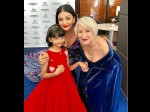 Cannes 2018 Aishwarya Rai Bachchan Strikes A Pose With Daughter Aaradhya And Helen Mirren