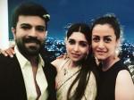 Ram Charan Namrata Shirodkar Have Blast At Anindith Shriya S Post Wedding