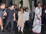 Salman Khan Madhuri Dixit Swara Bhaskar Attend Rajkumar Barjatya Prayer Service