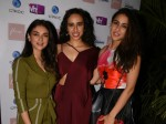 Sara Ali Khan Aditi Rao Hydari Look Fabulous At Namrata Purohit Song Launch
