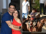 Bhumi Pednekar Sushant Singh Rajput Promote Sonchiriya Taimur Goes For Another Horse Ride