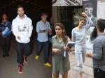 Varun Dhawan Looks Cool At Airport Disha Patani Snapped Wearing Ultra Casual Outfit