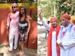 Farhan Akhtar Shibani Dandekar Play Holi At Shabana Azmiholi Party View Pics