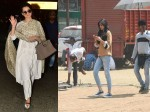 Kangana Ranaut Looks Elegant At Airport Kriti Sanon Snapped During Ad Shoot