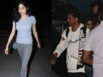 Shah Rukh Khan Spotted At Private Airport Janhvi Kapoor Goes Casual At Airport