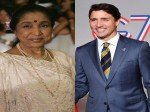 Canadian Pm Justin Trudeau Wishes Asha Bhosle On Her 86th Birthday