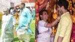 Rani Mukerji Jaya Bachchan Ayan Mukerji Others Grace Durga Puja Pandal In Mumbai Pictures