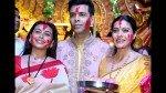 Kajol Karan Johar Rani Mukerji Had A Kuch Kuch Hota Hai Reunion At Sindoor Khela Celebrations