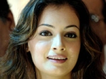 Diya Mirza Satisfied