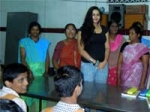 Namitha Visits Orphanage