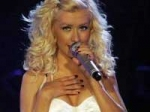 Christina Aguilera Tumbled Onstage Grammys 140211 Aid