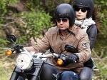 Jessica Biel Gerard Butler Motorbike Ride 070611 Aid