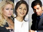 Karan Johar Simi Garewal Snub Paris Hilton