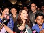 Madhuri Dixit Nene Returns Mumbai Family