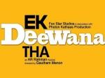 Gautham Menon Ek Tha Deewana Trailer