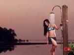 Nidhi Subbaiah Bikini Shower