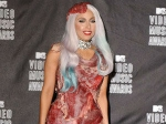Lady Gaga Sporting Meat Dress The Simpsons
