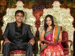 Singer Malavika Wedding Reception Photos