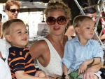 Britney Spears Sons Embarrassed Kiss Mom