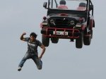 Vishnu Does Death Defying Stunt Doosukeltha Shooting