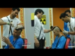 Bigg Boss 7 Apurva Sangram Get Mohawk Hair Cut From Asif Armaan