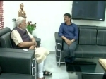 Nagarjuna Meeting Narendra Modi Seek Ls Ticket Amala