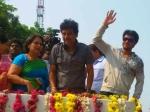 Photos Shivaraj Kumar Prem Election Campaigning Geetha Shimoga 135422 Pg