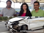 Hamsa Nandini Escapes Unhurt Car Accident