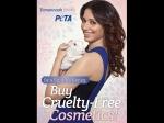 Tamanna Bhatia Poses For Peta To Oppose Animal Tests
