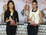 Pranitha Hamsa Nandini Released Santosham Awards Logo Shield 155912 Pg