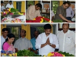 Chiranjeevi Balakrishna Mohan Babu At Bapu Funeral Photos