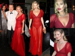 Kate Moss Flashes Derriere In Risque Red Gown At Mario Testinos Birthday Party