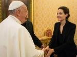 Angelina Jolie Met Pope Francis After Unbroken Screening