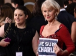 Je Suis Charlie Celebs Support Charlie Hebdo At 2015 Golden Globes