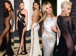 Vanity Fair 2015 Oscar Party Revealing Gowns Rita Ora Irina Shayk Gigi Hadid And More