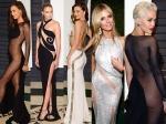 Vanity Fair 2015 Oscar Party Revealing Gowns Rita Ora Irina Shayk Gigi Hadid And More