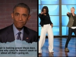 President Obama Reads Mean Tweets Michelle Obama Dances On The Ellen Show