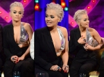 Rita Ora Suffers Wardrobe Malfunction At Alan Carr Talk Show