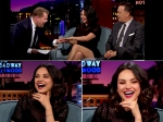 Mila Kunis Sparkles A Wedding Ring On James Corden Show