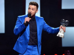 Justin Timberlake Gets Emotional Thanks Jessica Biel Iheartradio Music Awards Speech