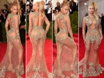 Met Gala 2015 Beyonce Sheer Gown Curves Red Carpet