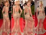Met Gala 2015 Beyonce Sheer Gown Curves Red Carpet