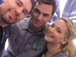 Jennifer Lawrence Nicholas Hoult Reunite X Men Apocalypse Sets